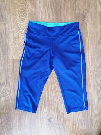 Leginsy sportowe fitness i wzorzysta bluzka