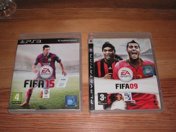 Jogos Playstation 3 PS3 - Fifa 09 e Fifa 15