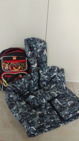 Plecak przedszkolny i  kurteczka