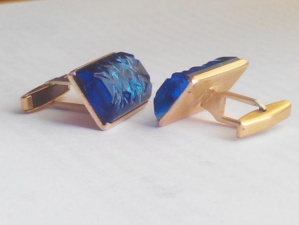 Запонки синие