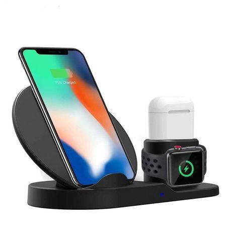Док-станция быстрой зарядки Fast Charge 3в1 для iPhone Samsung с Qi !!