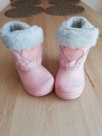 Sprzedam kalosze zimowe dla dziewczynki Skechers rozmiar 25,5