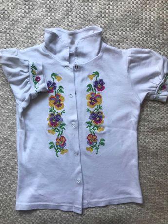 Блузка, вышиванка для девочки. Рост 122-128