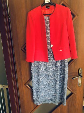 Piękny komplet sukienka żakiet marynarka