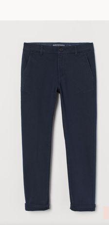 Штаны чиносы темно-синие H&M 170