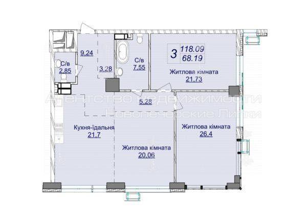 Драгомирова , 7 очередь , Новопечерские Липки ,  3 комнатная