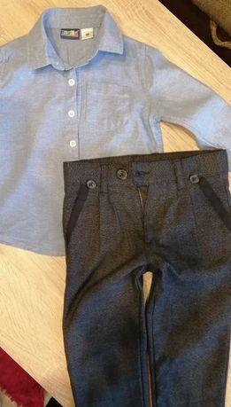 Elegancki zestaw, koszula i spodnie 98