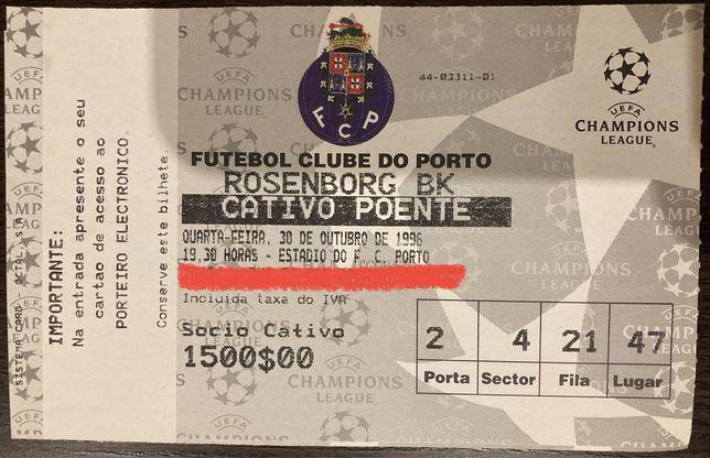Bilhete jogo Champions League Futebol Clube Porto x Rosenborg