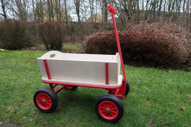 Wóz wózek drewniany drabiniasty dla dzieci