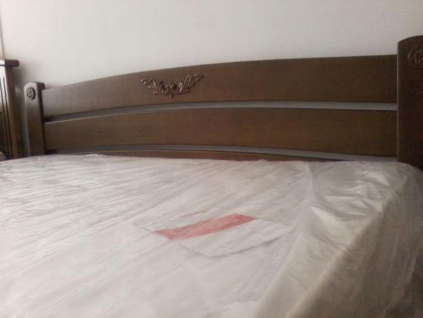 Ліжко з дерева (ясен) з матрацом 160*200. Нові