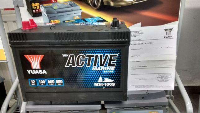 Akumulator Yuasa Active Marine Kamper Łódka Ponton Hobby 100Ah 800A