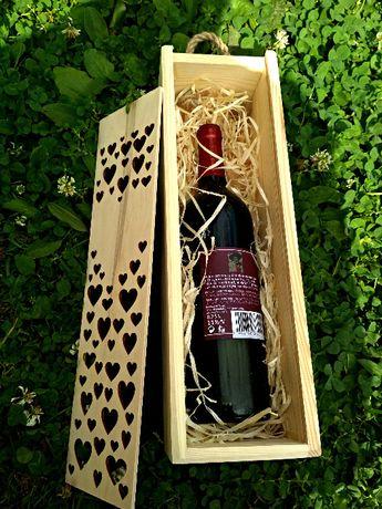 Skrzynka na wino alkohol pudełko prezent na Ślub podziękowanie