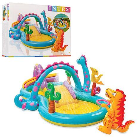 Бассейн, игровой центр Intex 57135 Планета Динозавров 333х229х112см
