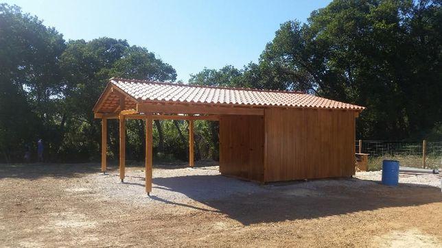abrigo de madeira / apoio agrícola - Madeira&Conforto