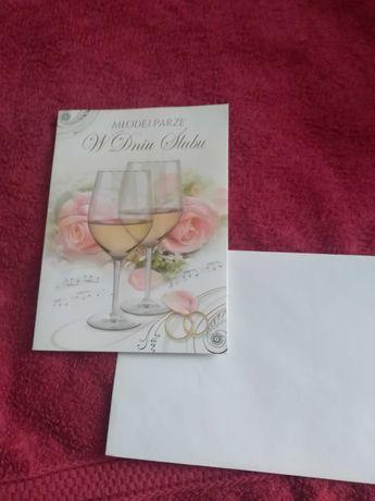 Kartki /karnet przestrzenny  z okazji ślubu sprzedam