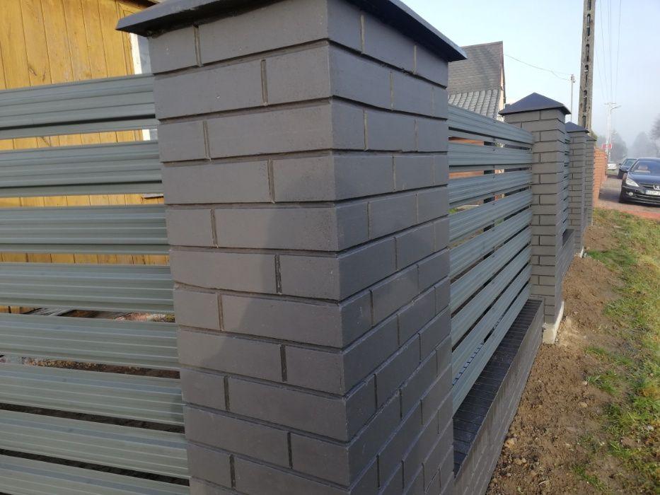 Slupek ogrodzeniowy, Podmurowka betonowa ogrodzeniowa, ala klinkier