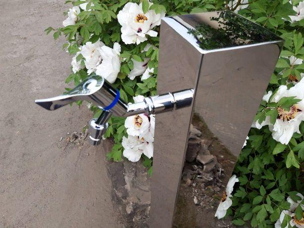 Садовая Колонка для воды из нержавеющей стали, кран для полива ,