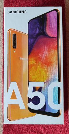 Samsung Galaxy A50 - Dual SIM  / 128GB / pomarańczowy