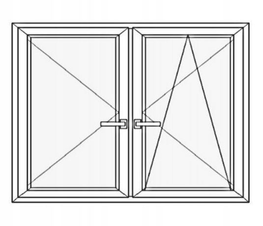 Okna PCV 1200x1160 jednostronny złoty dąb