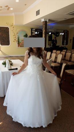 piękna suknia ślubna (ciążowa) princeska model Bona
