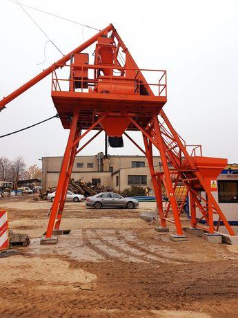 Wezel betoniarski Powertec CCM1200 0,75M3 3ZBIORNIKI SILOS 50T automat