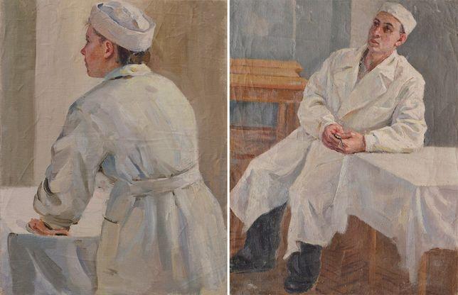 Божий Михаил Михайлович (1911-1990) Врачи 1950е Жанровая Народный х-к