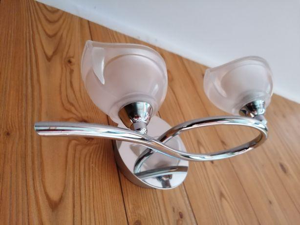 Kinkiet Kaja oświetlenie srebrna lampa