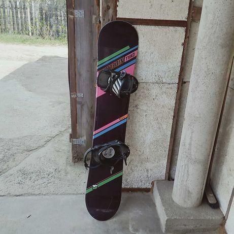 Deska snowboardowa Niedecker chill 155cm plus wiązania Salomon