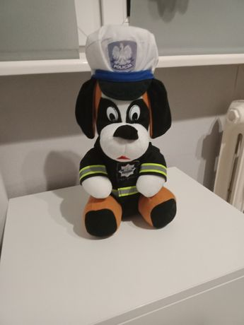 Pies policjant Maskotka