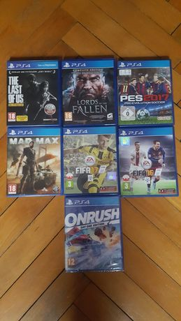 PS4 zestaw 7 gier PlayStation 4 gry