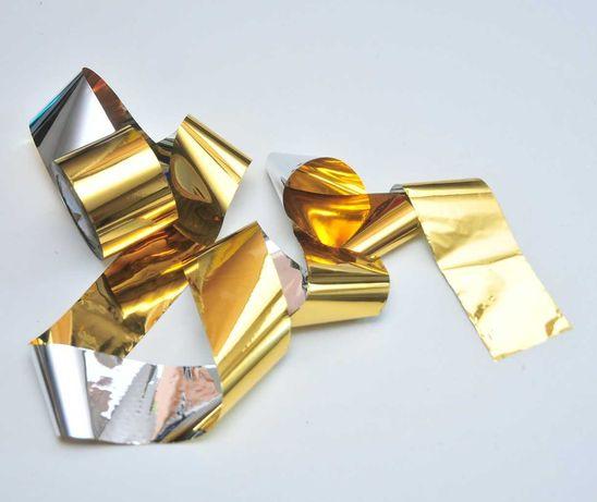Hoвое Лента золото 1 метр битое стекло фольга для дизайна
