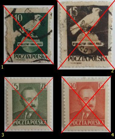 Znaczki pocztowe, Polska 1950_1965, różne serie