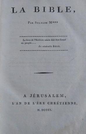 Pour et contre la Bible - Sylvain Maréchal - 1801