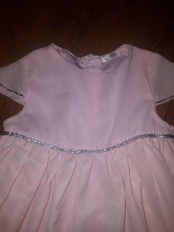 Urocza delikatna suknia r.116 sukienka