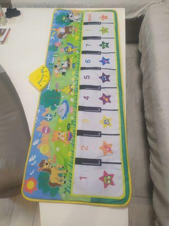 Mata muzyczna fortepian dla dzieci duża