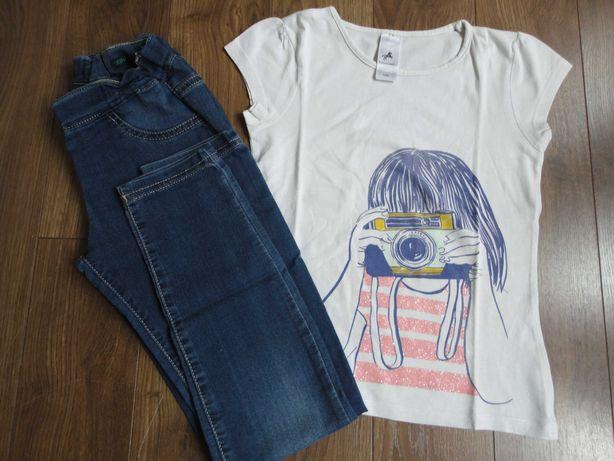 Tam.8/9A - Jeggings BENETTON + T-shirt C&A