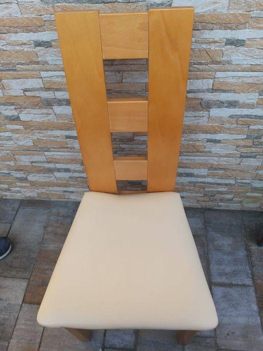 Uzywane krzesła bukowe eko-skóra stan bdb Siemiechów - image 1