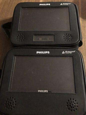 Odtwarzacz DVD PHILIPS dwuekranowy przenośny