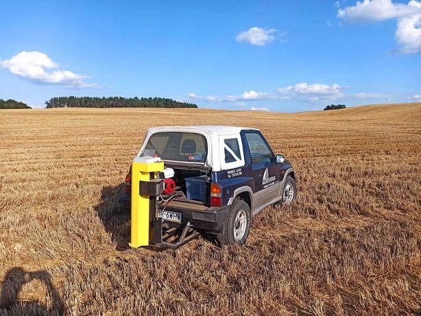 Badanie pobór gleby analiza składu chemicznego mapowanie dron szkody