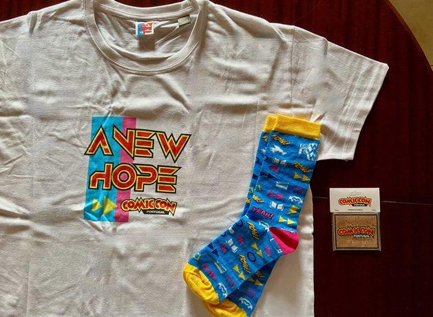 T-shirt, Meias e Íman - Comic Con