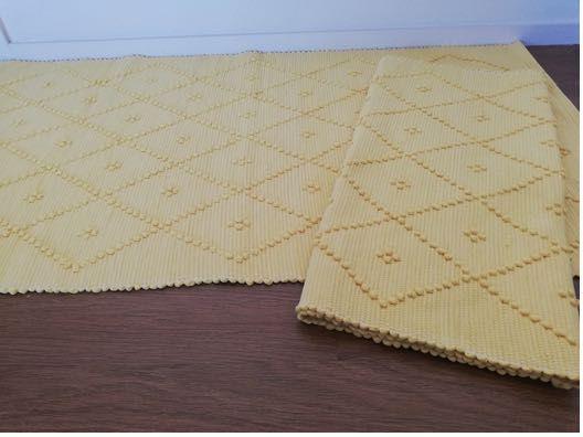 2 Tapetes artesanais 70x140 100% algodão