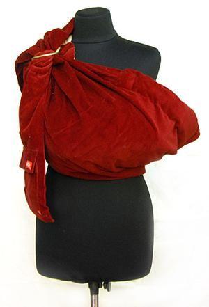 Слинг переноска для ребенка эргорюкзак красного цвета размер М