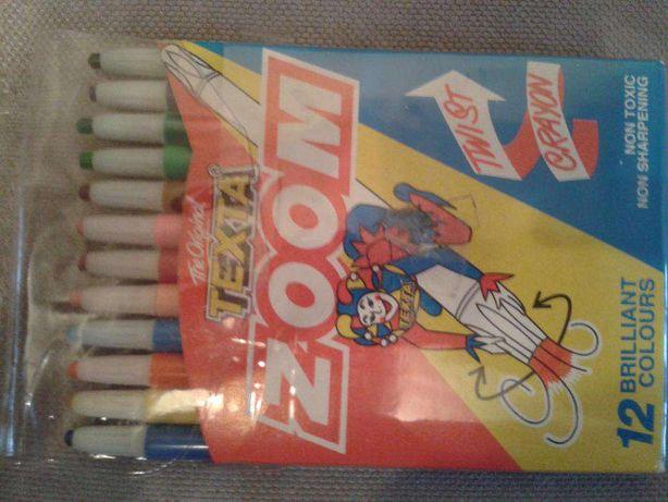 Цветные карандаши выдвижные. 12 цветов. Texta Zoom. Оригинал