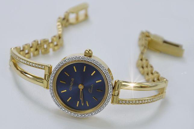 PRZEŚLICZNY złoty damski zegarek 14k NOWY 19,3g - NAJTANIEJ! lw075y B