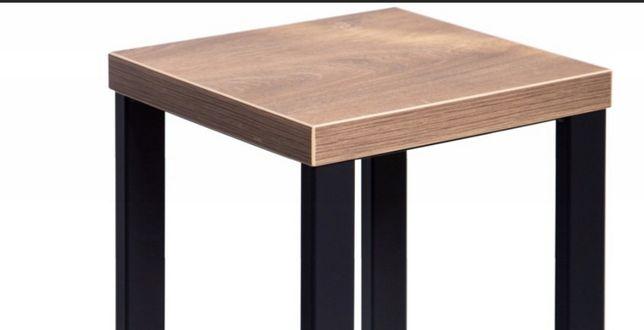 Solidny HOKER metalowy loft 75 cm - stołek,taboret