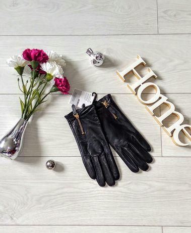 Rękawiczki skórzane nowe czarne