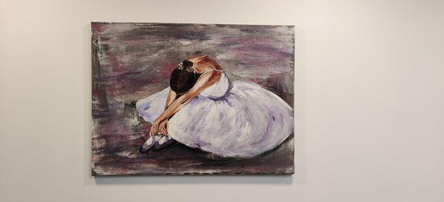 Obraz malowany ręcznie, akryl na płótnie.
