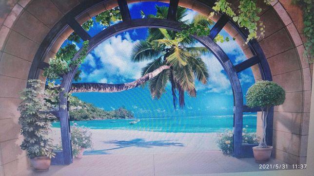 Fototapeta 3d optyczna , plaża wym. 312 x 219