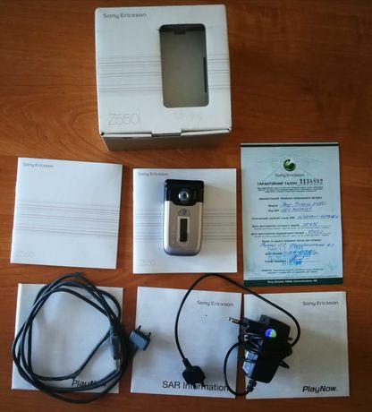 Мобільний телефон Sony Ericsson Z550i, зарядка, кабель, батарея BST-37