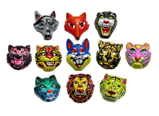 Супер Маски Животных / Новогодние / Карнавальные / маска / пластик